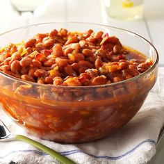 Any time Mom had the gang over for dinner, she made these pinto beans. Once, she made a batch for my cousin's birthday, and he ate the entire thing. —Joan Hallford, Fort Worth, Texas