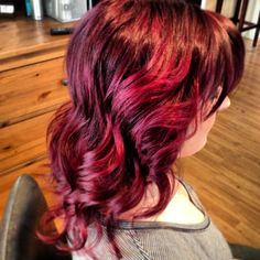 Fun hair color. Wild orchid