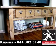 Feeling inspired and innovative? Build your own vintage tv stand by following these easy #DIY steps - click here: http://apost.link/5zY. #Pennypinchers #Knysna #DoItYourself