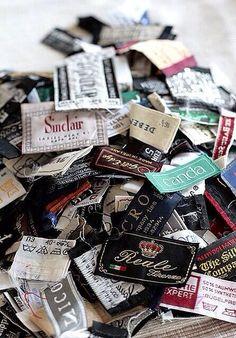 Pile of labels via @doubledecker_uk