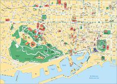 Carte touristique des musées, lieux touristiques, sites touristiques, attractions et monuments de Barcelone