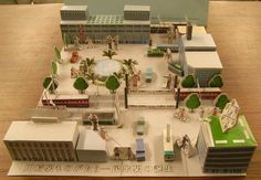 PAPERMAU: Kawasaki Station Paper Model Diorama - by City Of Kawasaki