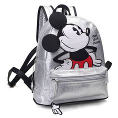 Mochila Mad about Mickey Disney Mochila Mickey Mouse, Mickey Mouse Backpack, Mickey Mouse Outfit, Backpack For Teens, Backpack Bags, Leather Backpack, Disney Purse, Crochet Baby Sandals, Marc Jacobs Handbag
