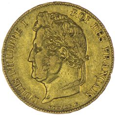 Louis Philippe I. 1830 - 1848 20 Francs 1841 A Gold