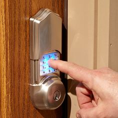 Are Smart Locks Safe? - Any device connected to the Internet is a potential target for hackers. Smart locks are no exception. In a worst-case scenario, a high-tech crook could unlock your door. We wer Entry Door Locks, Front Door Locks, Smart Door Locks, Entry Doors, Front Entry, Finger Scan, Keyless Locks, Atlanta, Best Home Security