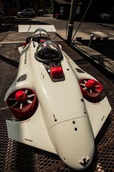 Futuristic Vehicle, Deepflight Dragon, Submarine, Quadcopter, Watercraft, Luxury, Futuristic Boat