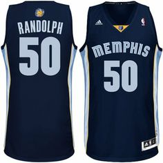 adidas Zach Randolph Memphis Grizzlies Revolution 30 Swingman Road Jersey - Navy Blue