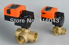 93.90$  Buy here - http://alidc2.worldwells.pw/go.php?t=32300247156 - 1/2'' Mixing valve Three way T type, proprotion valve AC/DC24V 0-10V modulating on for flow regulation or on/off control