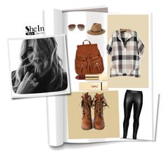 """""""Black V Neck Blouse Shein"""" by dudavagsantos ❤ liked on Polyvore featuring Studio, Accessorize, Rusty, Wild Diva and shein"""
