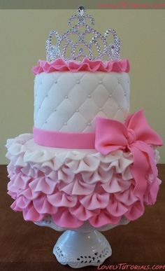 Ben said I'm spoiled because I want this cake for my next birthday. I think this would be adorable for a baby shower cake Baby Cakes, Baby Shower Cakes, Girly Baby Shower Themes, Pretty Cakes, Cute Cakes, Beautiful Cakes, Amazing Cakes, Girly Cakes, Pink Cakes