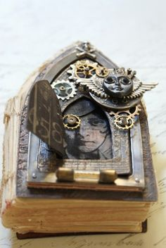 gothic arch steampunk altered book