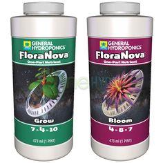General Hydroponics FloraNova Grow Bloom Liquid Base Nutrient 1 Pint 16 OZ - http://ift.tt/2fau2OC - #hydroponics #foodinnovation