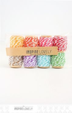 Party Mix Bakers Twine hand wound