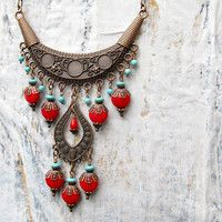 Taos Statement necklace Southwest Bohemian jewelry