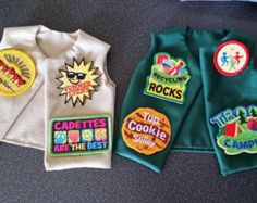Girl Scout friendship dolls | New American Girl or similar 18inch doll girl scout vests! Custom ...