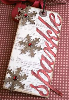 Layout: *Teresa Collins Christmas Cottage mini tag book