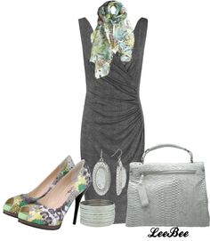 "POLYVORE GRAY OUTFITS | Little Grey Dress"" by leebee11 on Polyvore 