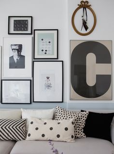 Gallery wall in a Swedish home in a former shop. : Gallery wall in a Swedish home in a former shop. Boho Deco, Appartement Design, A Frame Cabin, Swedish House, Inspiration Wall, Scandinavian Home, Home And Deco, Mid Century Furniture, Rustic Design