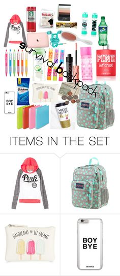 """""""What's in my backpack"""" by krocks317 ❤ liked on Polyvore featuring art"""