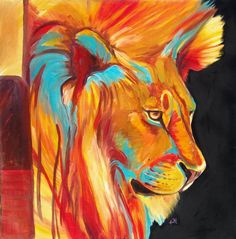 Lion Abstract photo: Oil originals by artist Vicki Greeff of Zimbabwe. Photos can not do justice to the depth of field and detail of Vicki's work. 28x28 Gallery wrapped $300.00 This photo was uploaded by 375lvr
