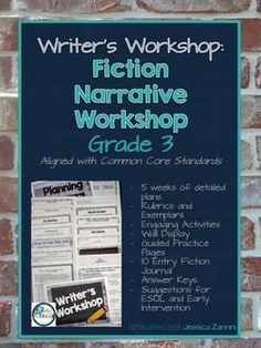 This comprehensive writers workshop unit contains 199-pages of detailed lessons and ideas to teach student how to write exciting stories while learning important third grade common core standards for writing assessments and student portfolios.  No cutting