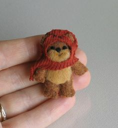 Ewok miniature plush Star Wars character by wishwithme, $15.00