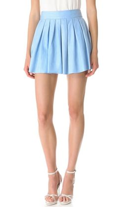 Alice + Olivia box pleated skirt. Spring is almost here xo
