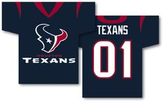 """NFL Houston Texans Jersey Banner 34"""""""" x 30"""""""" - 2-Sided"""