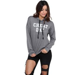 Charcoal Cheat Day Hoodie