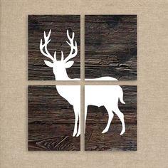 Deer Art Prints Printable Art Rustic Home by MooseberryPrintables, $20.00