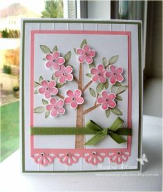 Cherry Blossoms in Winter using Stampin Up Season of Friendship