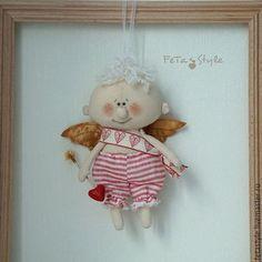 Купить Амурчик Текстильная кукла-подвеска Подарок влюбленным - Амур, амурчик, амурчик купить