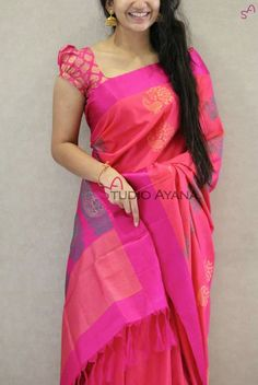 blouse designs Latest trends in Beauty, Fashion, Indian outfit ideas, Wedding style on your mind? We bring to you hand picked collections for inspiration Saree Blouse Neck Designs, Fancy Blouse Designs, Dress Designs, Blouse Patterns, Stylish Blouse Design, Trendy Sarees, Blouse Models, Elegant Saree, Set Saree