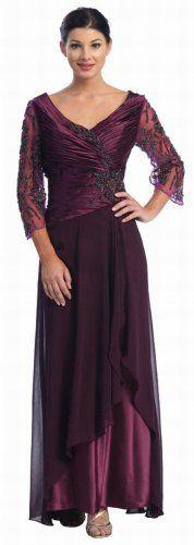 Mother of the Bride Formal Evening Dress #552 (Medium, Eggplant) US Fairytailes http://www.amazon.com/dp/B002G5RKDM/ref=cm_sw_r_pi_dp_W3g0tb1544WN695D
