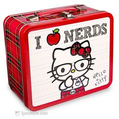 Hello Kitty - I Luv Nerds - Metal Lunchbox