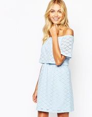 Shop Fashion Union Off Shoulder Crop Dress In Floral Lace at ASOS. Asos Fashion, Fashion Dresses, Crop Dress, Spring Dresses, Beautiful Dresses, Strapless Dress, Shoulder Dress, Style Inspiration, Floral Lace