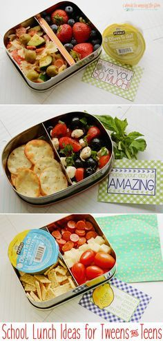School Lunch Ideas for Tweens and Teens | Easy ideas for older kids' lunches. | Free printable lunch box notes, too!