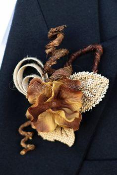 Burlap Rustic Wedding Groom Boutonniere - Ruby Blooms #wedding #tuxedo #groom #prom #groompin #broochpin #lapel #boutonniere #bestman #weddinginspiration #bridal #weddings #crystalbrooch #peacockfeather #groomsman #weddings #weddingidea #inspiration #sandiego #peacock #peacockwedding #newyorkwedding #californiawedding #rusticwedding #luxurywedding #shabbychic #countrywedding #woodlandwedding #vintagewedding #countrywedding #destinationwedding #sandiegowedding #fashion
