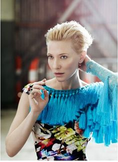 """I am loving on the tassels! Cate Blanchet wearing the label """"A romance was born"""""""