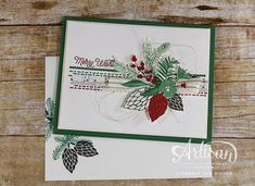 Christmas in July using the Peace This Christmas stamp set and This Christmas Designer Series Paper - StampinByTheSea.com