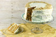 Grandma's Triple Layer Carrot Cake is the ultimate carrot cake recipe. Every piece of this cake is tasty. The carrot cake is fluffy and moist, and the cream cheese frosting is creamy, sweet, and incredibly delicious. Amazing Carrot Cake Recipe, Easy Carrot Cake, Moist Carrot Cakes, Carrot Cake With Pineapple, Cake With Cream Cheese, Easy Cake Recipes, Cake Batter, Stick Of Butter, Homemade Cakes