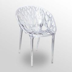 this chair would be great in a small place, since it is clear it would blend well.