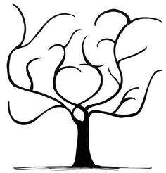 Gästebuch Fingerprint Tree - Design von especially ForYou - handgefertigte Geschenkideen...
