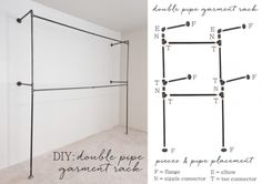 This simple outline of how to build a plumbing pipe clothing racks is a do it yourself project that utilizes vertical wall space into an open air closet to hang clothing.  Embrace the look by creating a closet out of nowhere by installing pipe flanges in the studs into the wall. The hard part was …