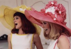 Catherine Deneuve and Françoise Dorléac in Les Demoiselles de Rochefort directed by Jacques Demy, Wide-brimmed Hat by Jean Barthet, 1967
