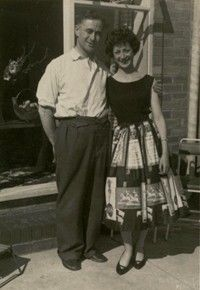 50s fashion: Tight waists and highly patterned skirts were popular in the 50s