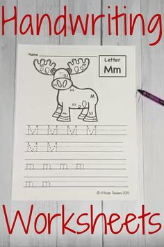 Use these unique printable handwriting worksheets to teach handwriting to your students! Teaching kids how to properly form each letter while learning the alphabet helps kids get more experience with each letter.  Once they know how to write the letters, they can begin to start putting sounds together in their writing. These are great for handwriting practice for kids! #handwritingworksheets #printablehandwritingworksheets #handwritingworksheetsforkindergarten Handwriting Worksheets For Kindergarten, Printable Handwriting Worksheets, Spelling And Handwriting, Teaching Handwriting, Handwriting Practice, Alphabet Worksheets, Kindergarten Activities, Alphabet Phonics, Learning The Alphabet