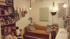Moi from my tiny crochet studio! | Molla Mills Crochetterie