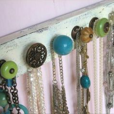 Not that I have a specific need for this, but I like the idea for hanging things.  And, there are so many nice knobs at the store to choose from.