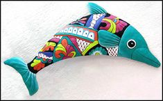 "Turquoise Dolphin Painted Metal Wall Hanging - Pool Side Decor - 14"" x 24"" - tropicdecor.com"